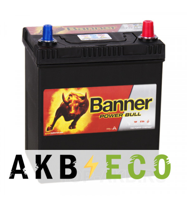 Автомобильный аккумулятор BANNER Power Bull (40 26) 40R 330A 187x127x226