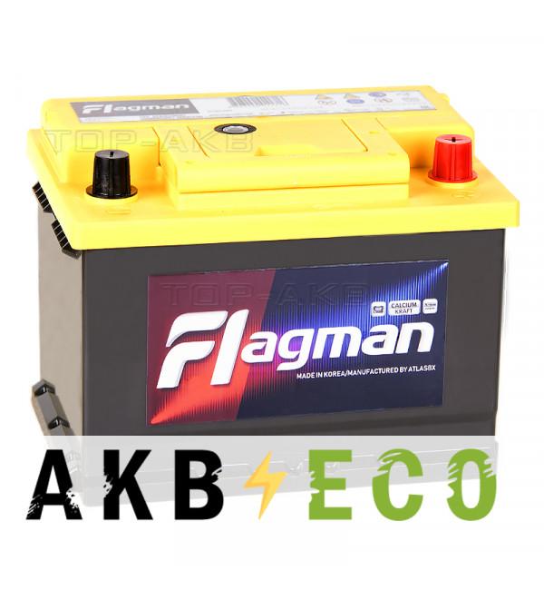 Автомобильный аккумулятор Flagman 68R L2 680A (242x175x190) 56800