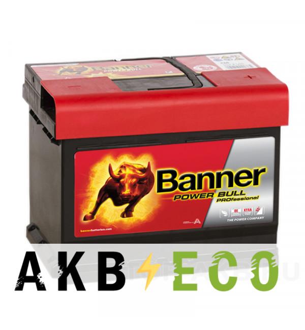 Автомобильный аккумулятор BANNER Power Bull Pro (50 42) 50R низкий 400A 207x175x175