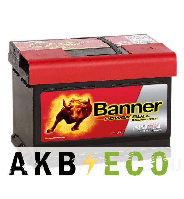 Автомобильный аккумулятор BANNER Power Bull Pro (63 42) 63R низкий 600A 242x175x175