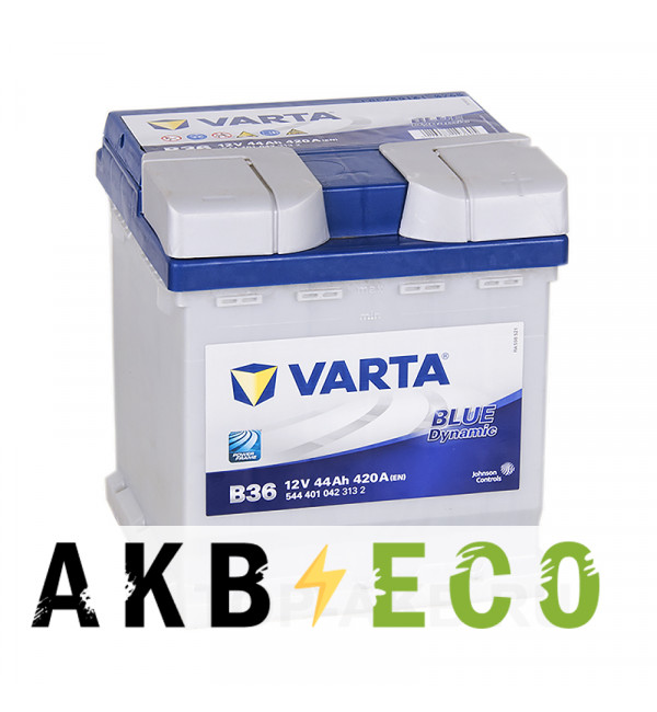 Автомобильный аккумулятор Varta Blue Dynamic B36 44R 420A 175x175x190