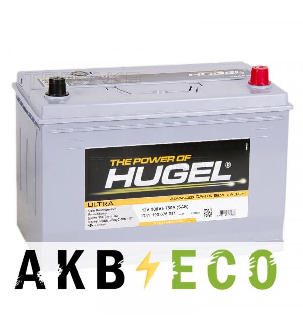 Автомобильный аккумулятор Hugel Ultra Asia 100R 760A (306x173x225) D31 100 076 011