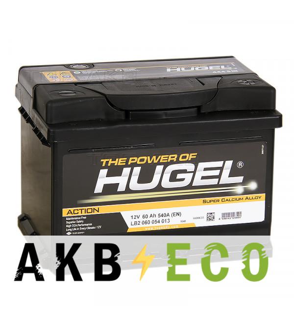Автомобильный аккумулятор Hugel Action 60R низкий 540A (242x175x175) LB2 060 054 013