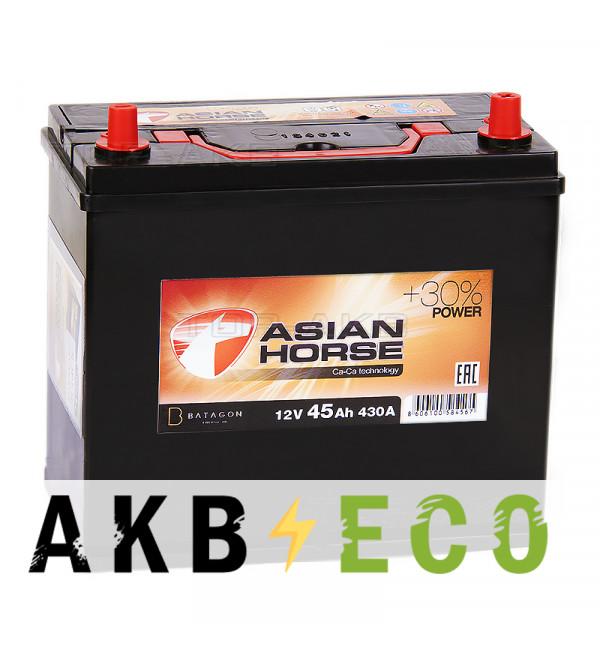 Автомобильный аккумулятор Asian Horse 45R узкие кл. 430A 238x129x227