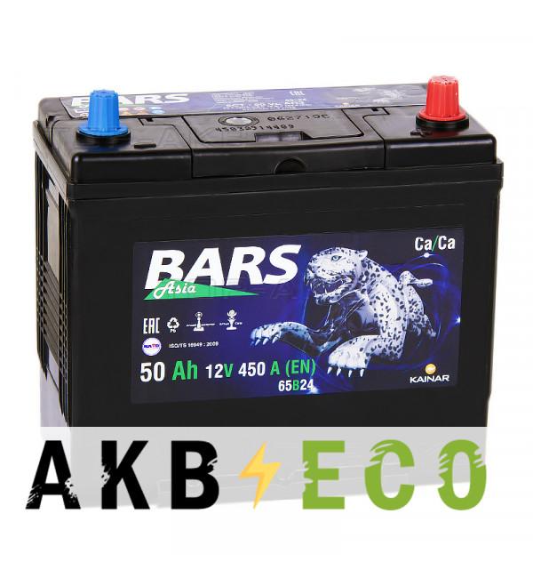 Автомобильный аккумулятор Bars Asia 50R уз. клеммы 450A (238x129x227)