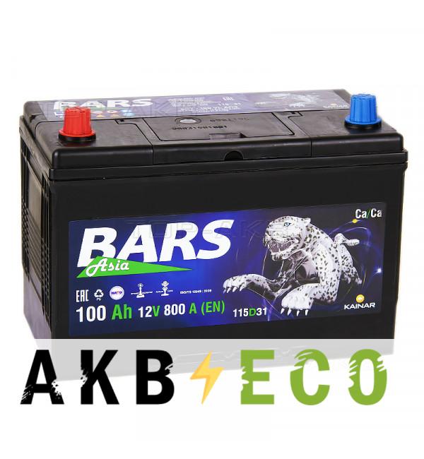 Автомобильный аккумулятор Bars Asia 100L 800A (306x173x225)