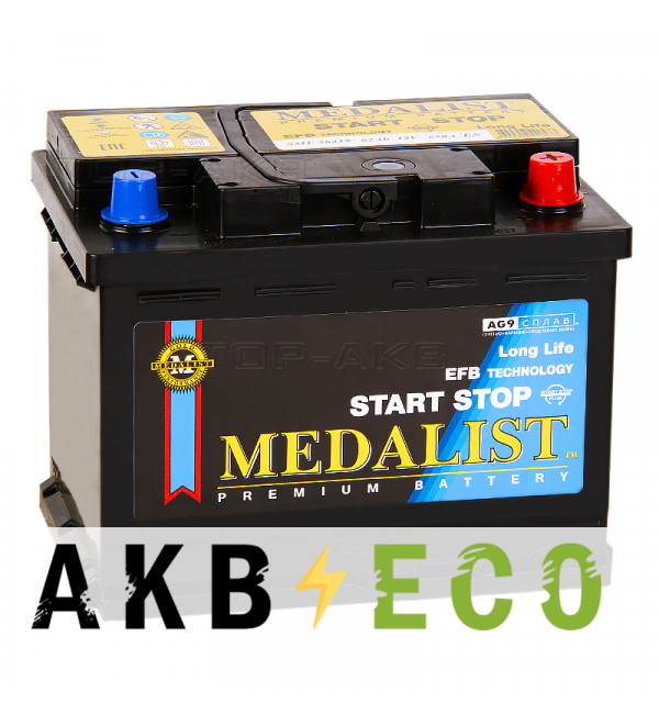 Автомобильный аккумулятор Medalist EFB 56219 (62 Ач обр. пол. 650А 242x175x190)