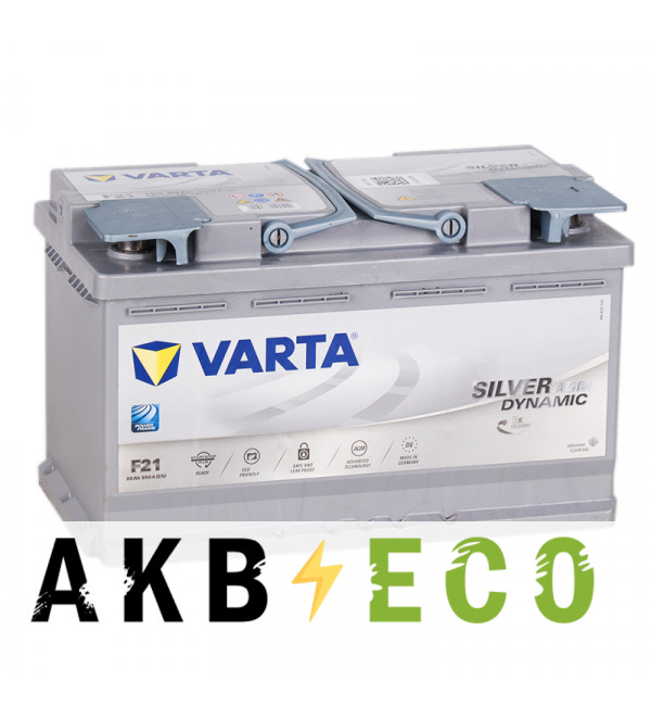 Автомобильный аккумулятор Varta Silver Dynamic AGM F21 80R (Start-Stop) 800A 315x175x190