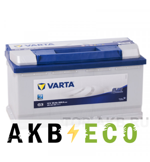 Автомобильный аккумулятор Varta Blue Dynamic G3 95R 800A 353x175x190
