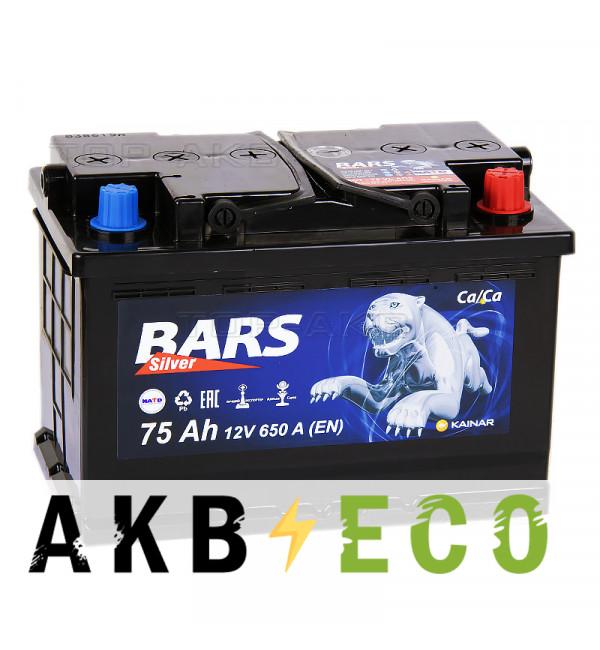 Автомобильный аккумулятор Bars 75R 650A 278x175x190