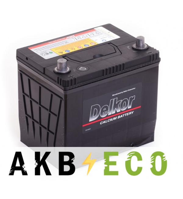 Автомобильный аккумулятор Delkor 75D23R (65L 570A 232x173x225)