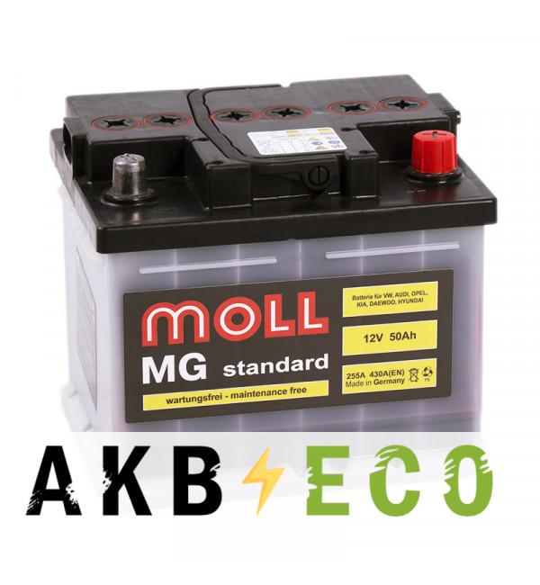 Автомобильный аккумулятор Moll MG Standard 50R 430A 207x175x175