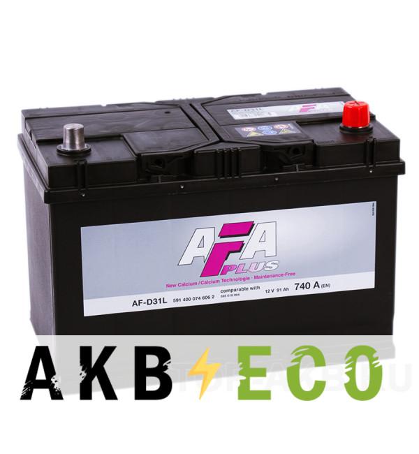 Автомобильный аккумулятор AFA Plus 91R 740A (306x173x225) AF-D31L