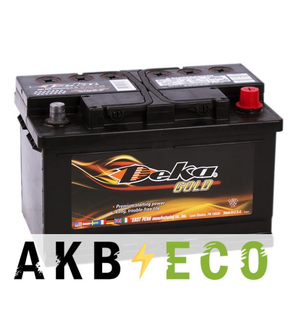 Автомобильный аккумулятор Deka 70R (640RMF 650A 278x175x175)