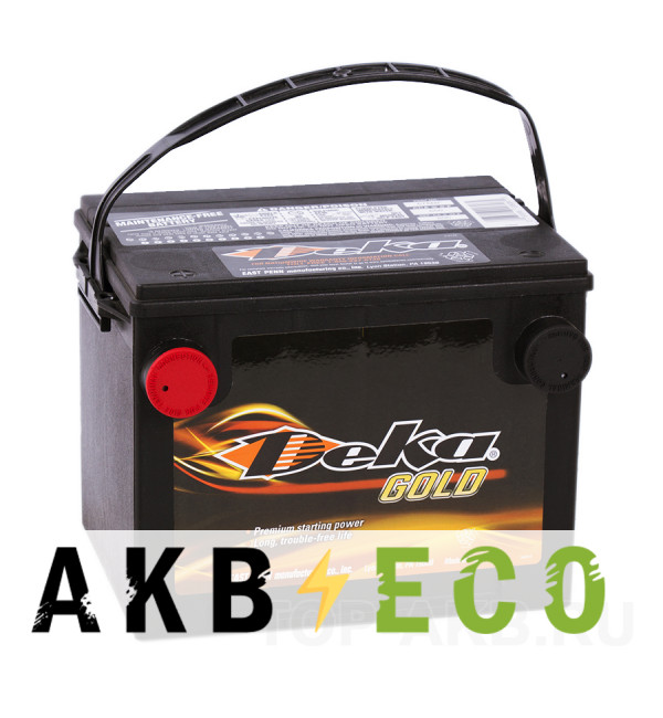 Автомобильный аккумулятор Deka 675MF 12V 60Ah (650A 230x176x184) боковые клеммы