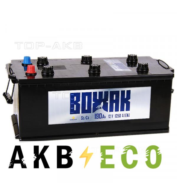 Автомобильный аккумулятор Вожак 190 рус 1250A 524x239x240