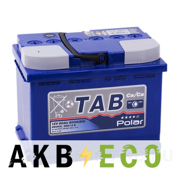 Автомобильный аккумулятор Tab Polar 60L (600A 242x175x190) 121160 56013