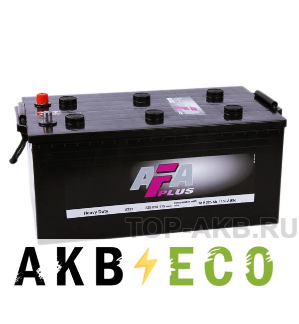 Автомобильный аккумулятор AFA Plus 225 евро 1150A (518x276x242) Heavy Duty AT27