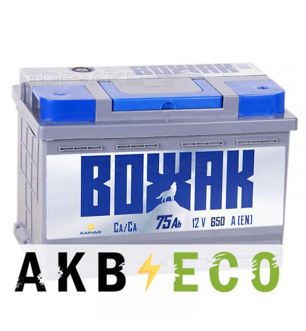 Автомобильный аккумулятор Вожак 75R 650A 278x175x190