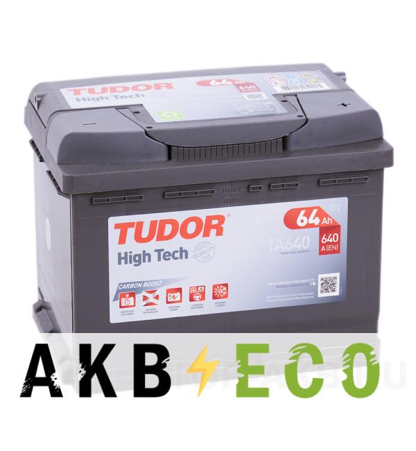 Автомобильный аккумулятор Tudor High-Tech 64R (640A 242x175x190) TA640