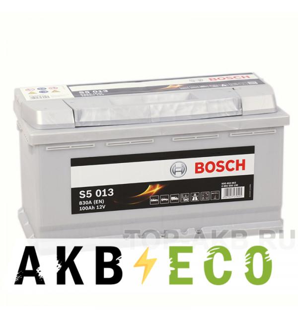 Автомобильный аккумулятор Bosch S5 013 100R 830A 353x175x190