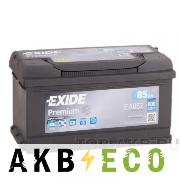 Автомобильный аккумулятор Exide Premium 85R (800А 315х175х175) EA852