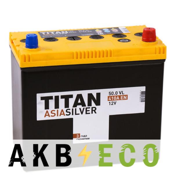 Автомобильный аккумулятор Titan Asia Silver 50R (410А 238x129x225)