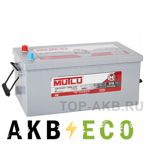 Автомобильный аккумулятор Mutlu Mega Calcium 225 евро 1450A 517х273х240