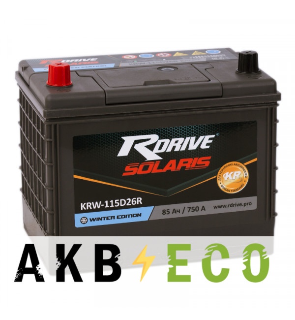 Автомобильный аккумулятор R-Drive 115D26R (85L 750А 260x173x225)