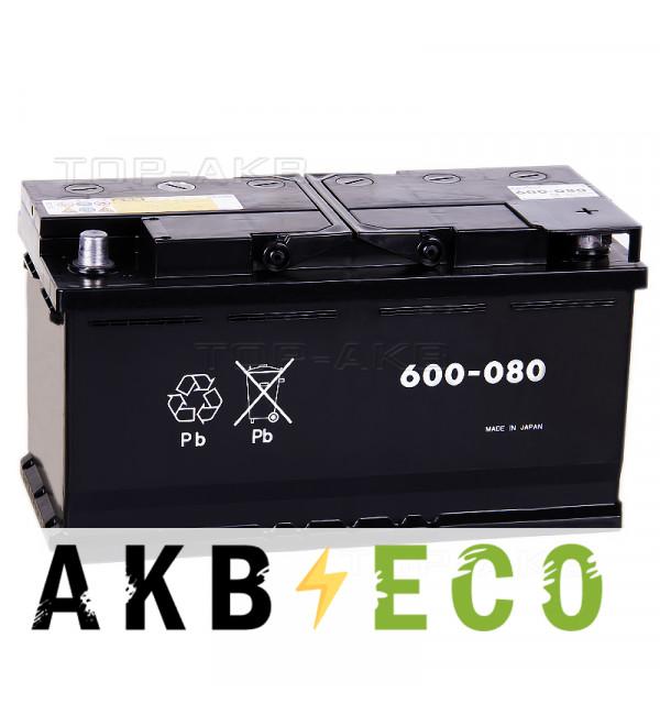Автомобильный аккумулятор GS Yuasa EU 600-080 (L5) - 100 Ач 800A обратная пол. (353x175x190)