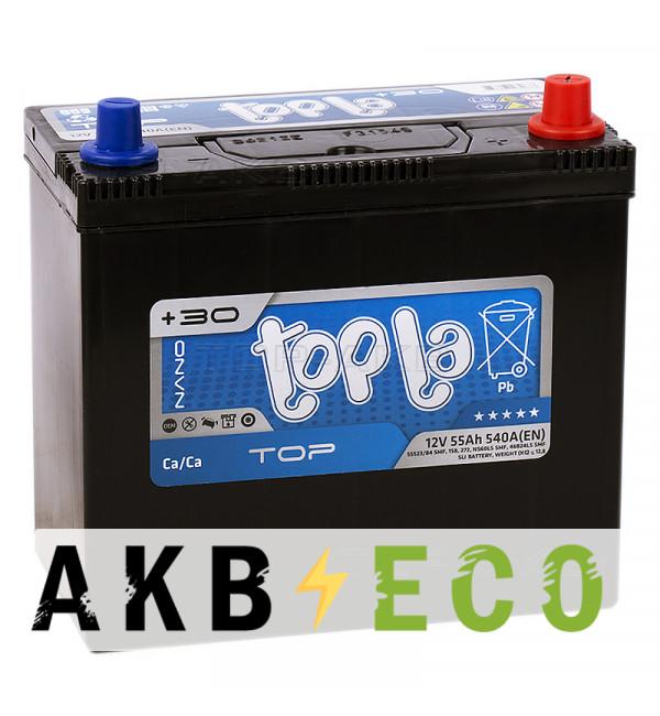 Автомобильный аккумулятор Topla Top JIS 55R 540А 236x126x227 (118255 55523/84 унив. клеммы)