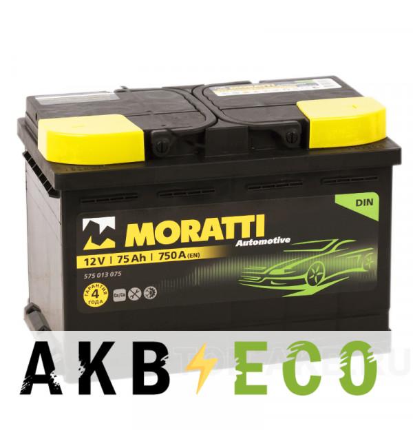 Автомобильный аккумулятор Moratti 75R 750А 278х175х190