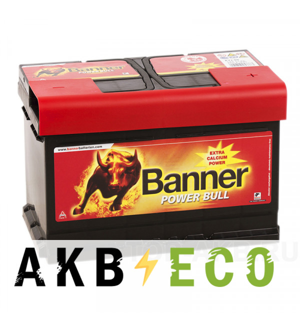 Автомобильный аккумулятор BANNER Power Bull (74 12) 74R 680A 278x175x190