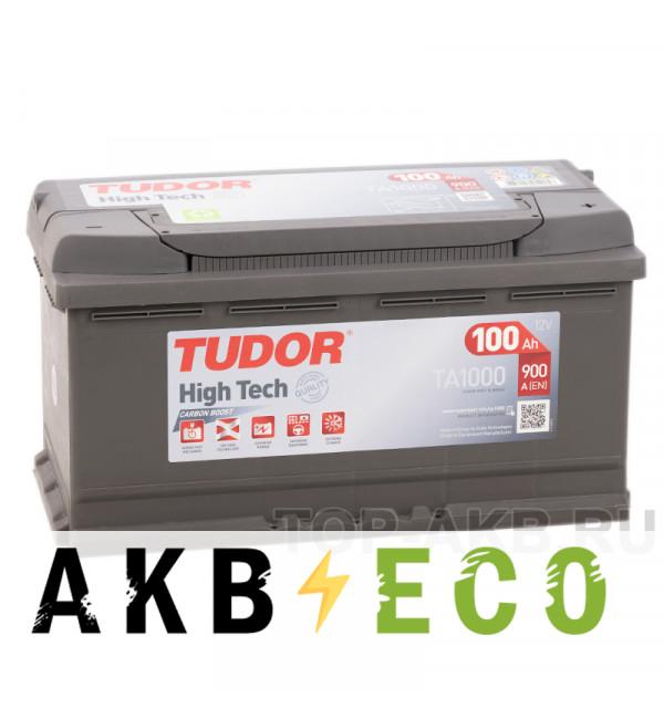 Автомобильный аккумулятор Tudor High-Tech 100R (900A 353x175x190) TA1000