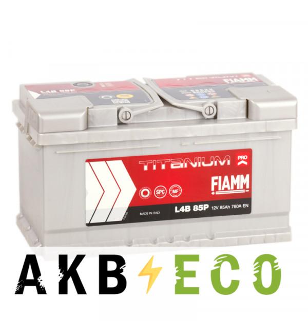 Автомобильный аккумулятор Fiamm Titanium Pro 85R низкий 760A (315x175x175) L4B 85P