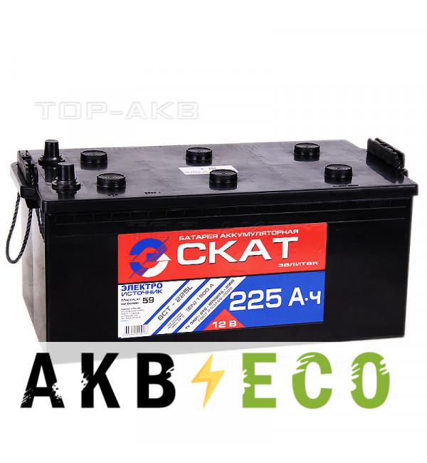 Автомобильный аккумулятор Скат 225 рус 1500A 518x276x242
