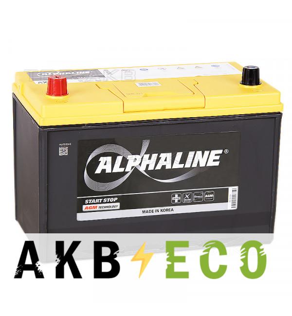 Автомобильный аккумулятор Alphaline AGM D31R 90L 800A 306x175x225 Start-Stop