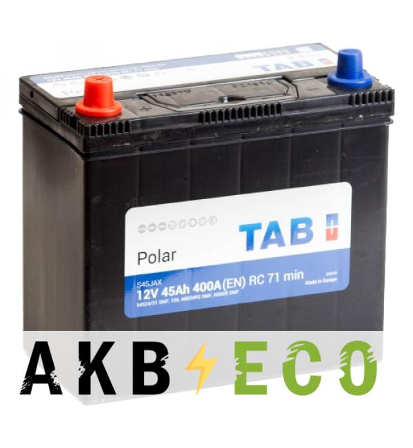 Автомобильный аккумулятор Tab Polar S 45L (400А 238x129x227) 246945 54524/51