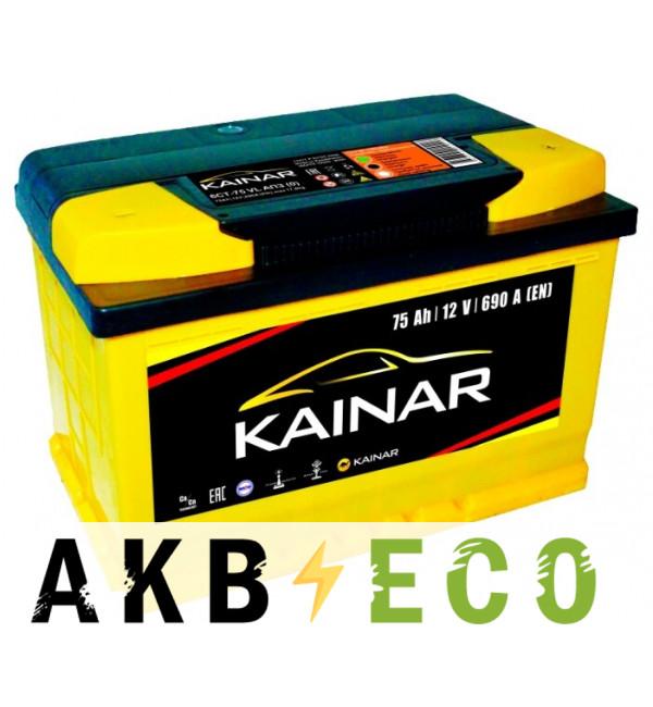 Автомобильный аккумулятор KAINAR 75 Ач обр. пол. 690А (278x175x190)