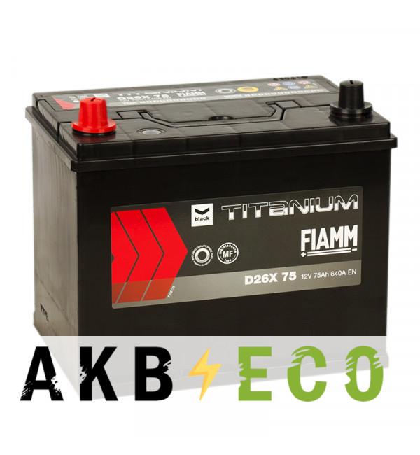 Автомобильный аккумулятор Fiamm Asia 75L 640A 261x173x225