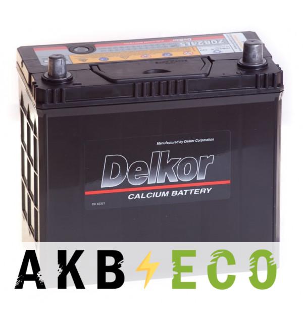 Автомобильный аккумулятор Delkor 70B24LS (58R 540A 238x129x227)