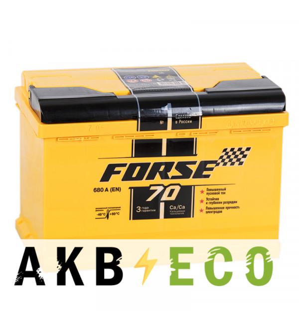 Автомобильный аккумулятор Forse 70R 680A (278x175x190)