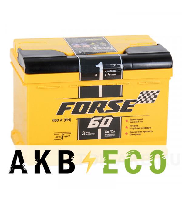 Автомобильный аккумулятор Forse 60R низкий 640A (242x175x175)