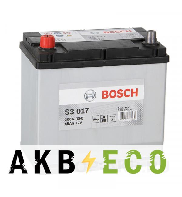 Автомобильный аккумулятор Bosch S3 017 45L 300A 219x135x225