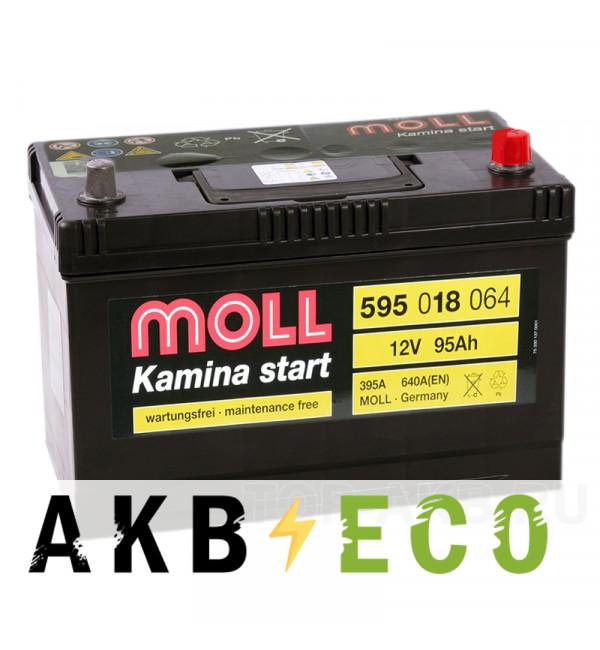 Автомобильный аккумулятор Moll Kamina Start Asia 95R 640A (306x173x225)