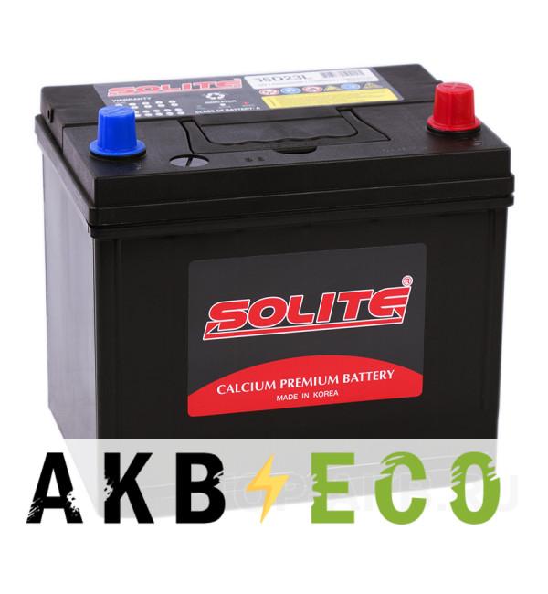 Автомобильный аккумулятор Solite 75D23L с бортиком (65R 550A 230x168x210)