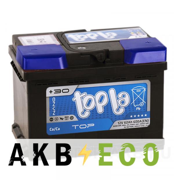 Автомобильный аккумулятор Topla Top 62R (600A 242x175x175) 118662 56249
