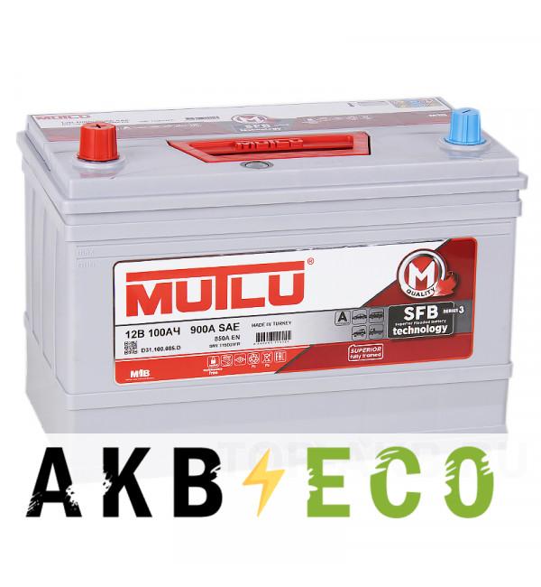 Автомобильный аккумулятор Mutlu Calcium Silver 100L Asia 850A 306x175x225