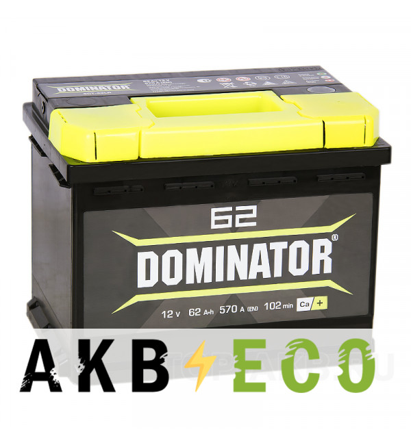 Автомобильный аккумулятор Dominator 62R 550А 242x175x190