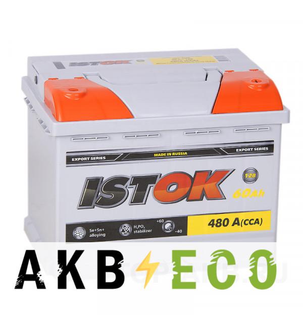 Автомобильный аккумулятор ISTOK 60R 450A (242x175x190)